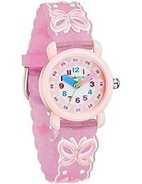 [チックタック] TICKTOCK キッズ腕時計 クオーツ アナログ表示 子供 ガールズ ウォッチ (B) 子供の日 入学 通学 入園 通園 新学期 誕生日 お祝い プレゼント (蝶々ーピンク) [並行輸入品]