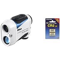 Nikon ゴルフ用レーザー距離計 COOLSHOT PRO STABILIZED + TOSHIBA CR2G 2P カメラ用リチウムパック電池 セット