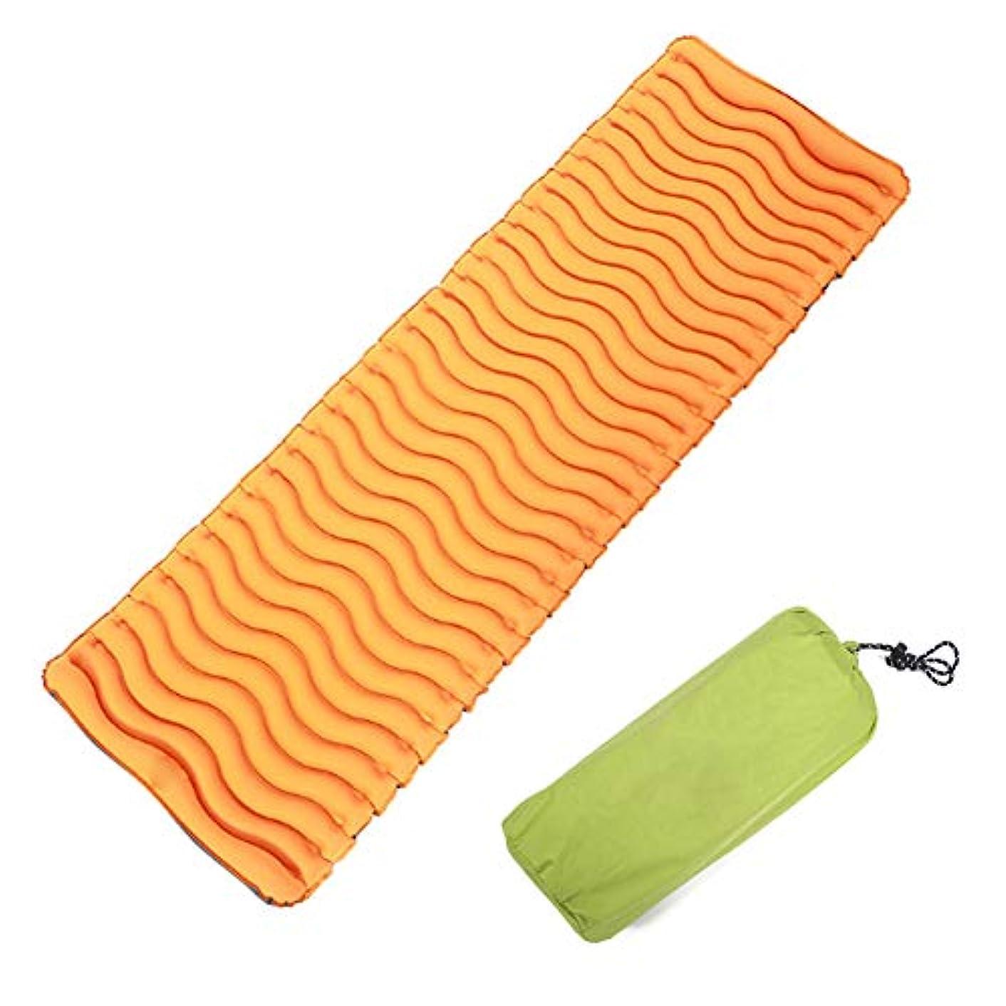 時折構築する足音超軽量インフレータブルキャンプマット、ポータブル防湿マットレス、スリーピングパッドを厚く、屋外テントに適していますバックパッキングトレッキング