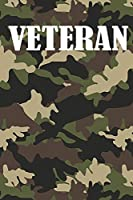 Veteran: Notebook Gift for Veteran / 120 lined pages / size 6x9 inch