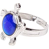 USport 1pc Adjustable Turtle Shape Mood Color Change Ring