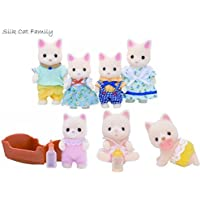 Sylvanian Families Silk Cat Family, Baby and Twins Set by Sylvanian Families [並行輸入品]