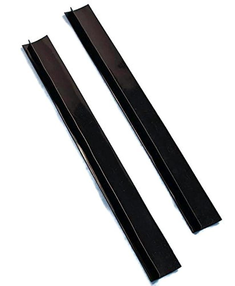 ギャング内陸気を散らすSet of 2 Black Silicone Counter Gap Covers by LTD Commodities