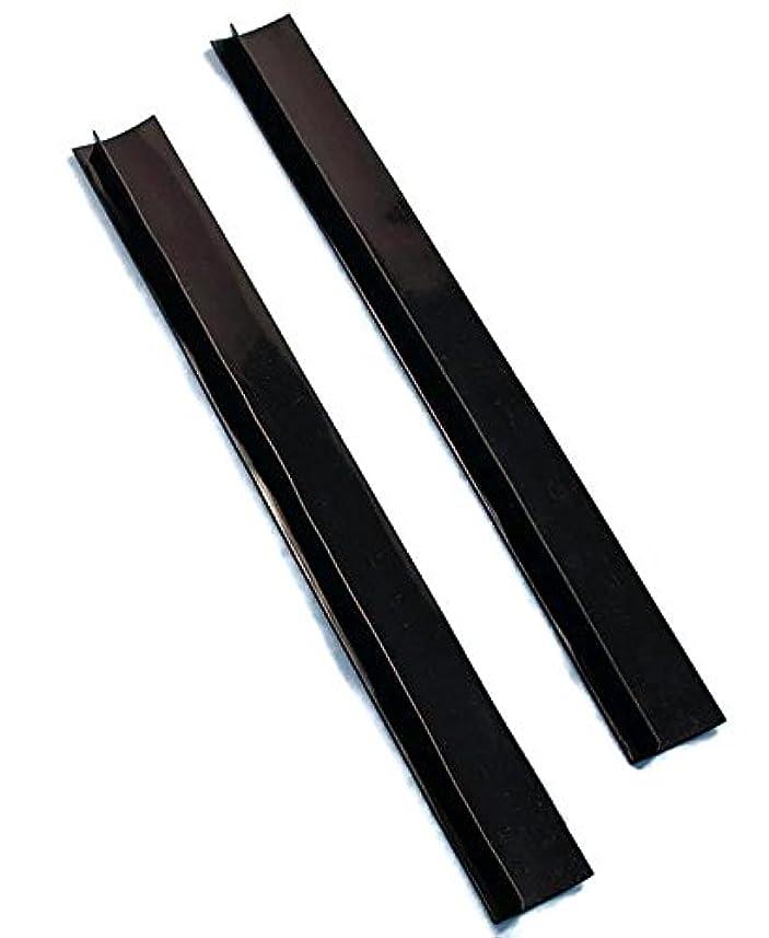 上がるカリキュラム幸福Set of 2 Black Silicone Counter Gap Covers by LTD Commodities