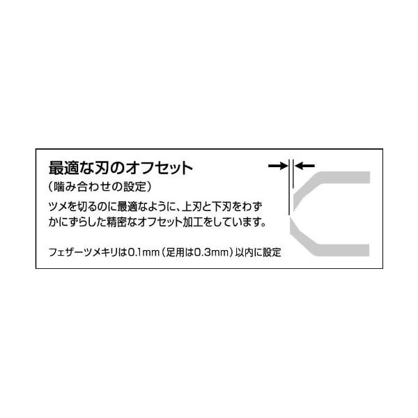 フェザー ツメキリ 3S (色おまかせ)の紹介画像2