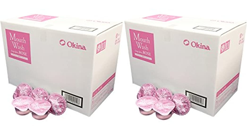 クリケット娯楽おなかがすいたオキナ マウスウォッシュ ロングスピン ROSE お得な2箱セット(100入りx2箱) LS-RS 14ml