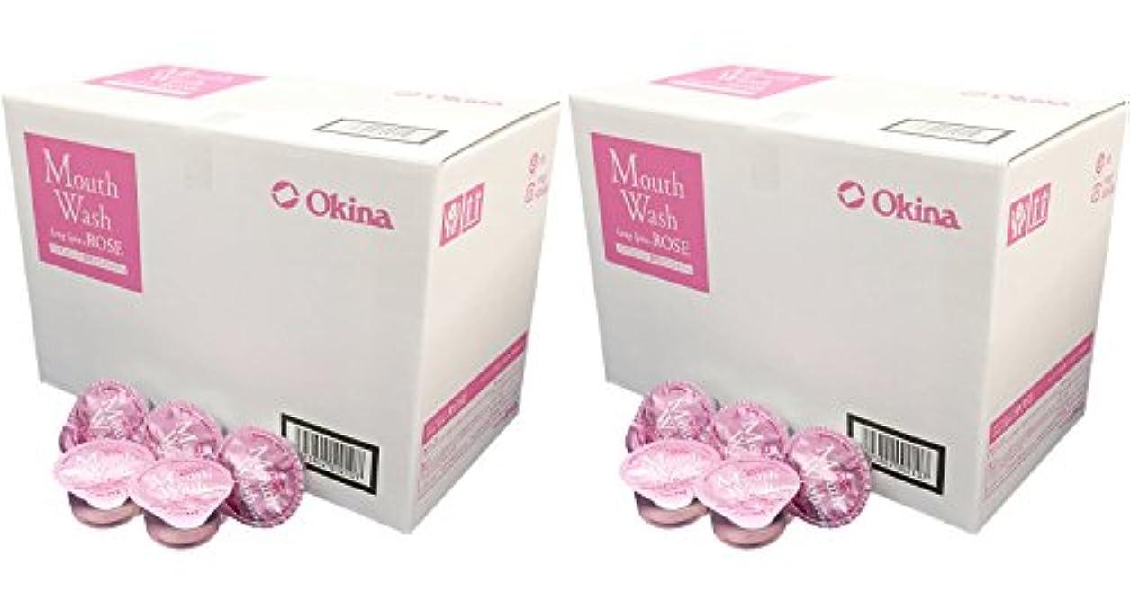 塗抹農学正規化オキナ マウスウォッシュ ロングスピン ROSE お得な2箱セット(100入りx2箱) LS-RS 14ml