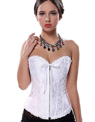 (Firaeishi) PhilaeEC Rede Ease diet embroidered zipper with a ribbon over bust corset