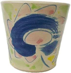 クラフ陶スタジオK's 泡盛カップ 白 レギュラー 花絵