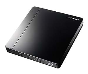 I-O DATA ポータブルブルーレイドライブ (バスパワー対応、USB 3.0/2.0、ピアノブラック) EX-BD01K