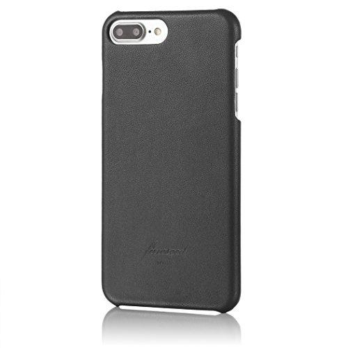 HAKUBA iPhone 7 Plus ケース fineseed 本革 高級シープスキン 熟練の財布職人仕立て ブラック  PC-SHLCIP7PBK