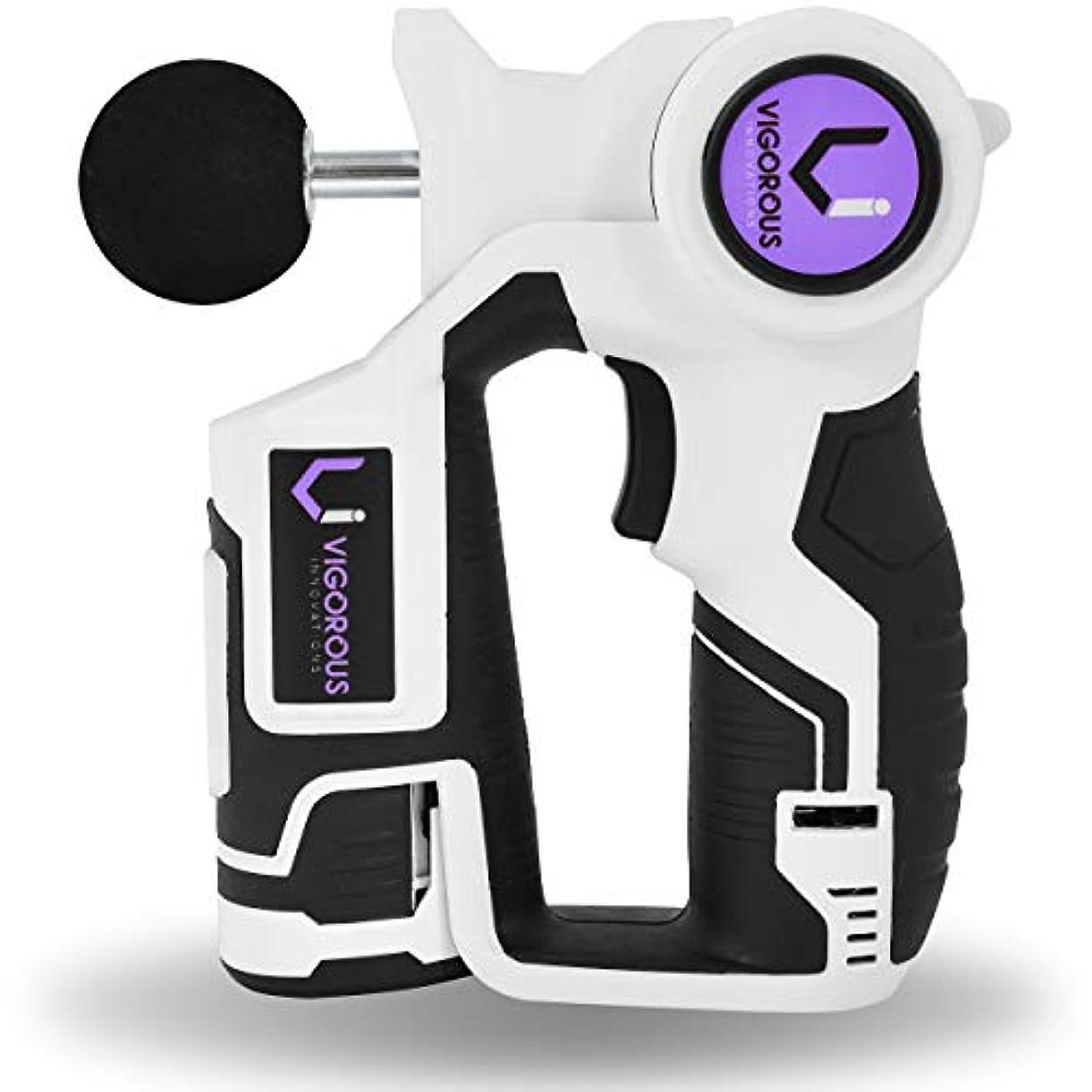 気性裁定追うジグソー マッサージガン アスリート用 Jigsaw Massage Gun for Athletes - 2 Long Lasting Batteries w/Percussion Deep Tissue Massager...