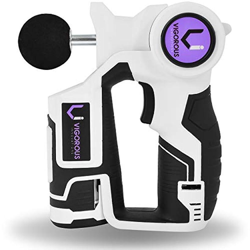 台風ラッシュ息を切らしてジグソー マッサージガン アスリート用 Jigsaw Massage Gun for Athletes - 2 Long Lasting Batteries w/Percussion Deep Tissue Massager...