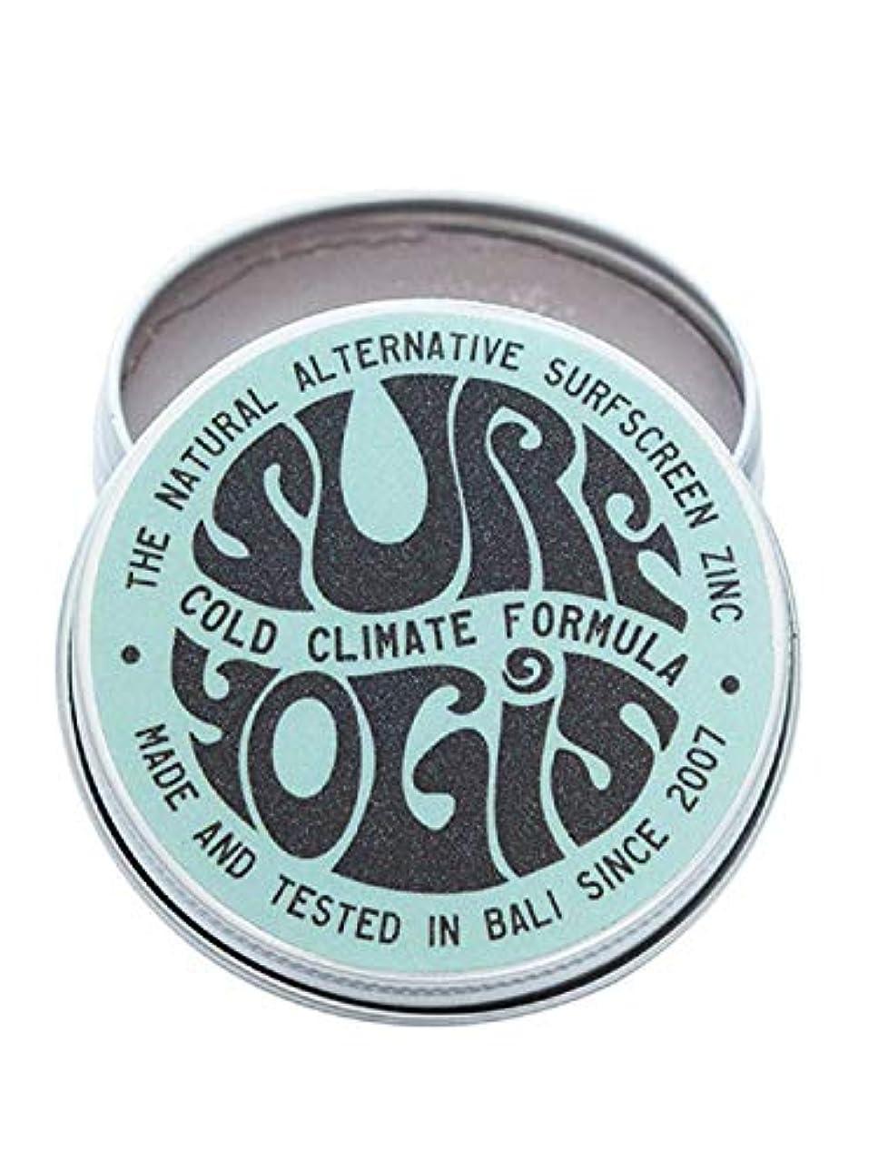 コーヒーワーディアンケース体細胞SURF YOGIS(サーフヨギ) ナチュラルサーフスクリーン COLD CLIMATE FORMULA フォーミュラ 冬用 柔らかめ 日焼け止め オーガニック素材 60g SPF50 ノンケミカル