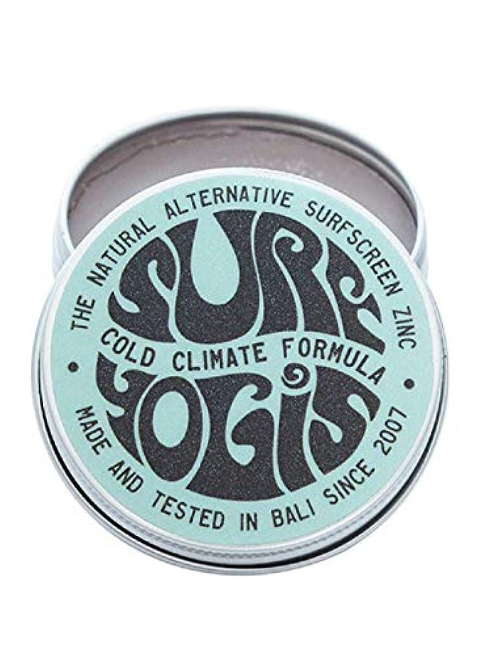 チーターディレクトリアロングSURF YOGIS(サーフヨギ) ナチュラルサーフスクリーン COLD CLIMATE FORMULA フォーミュラ 冬用 柔らかめ 日焼け止め オーガニック素材 60g SPF50 ノンケミカル