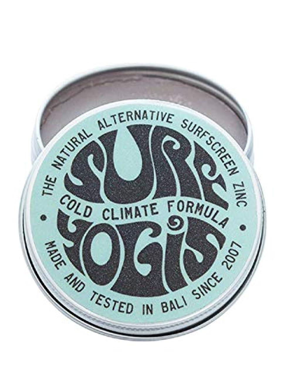 洪水外部伝導SURF YOGIS(サーフヨギ) ナチュラルサーフスクリーン COLD CLIMATE FORMULA フォーミュラ 冬用 柔らかめ 日焼け止め オーガニック素材 60g SPF50 ノンケミカル