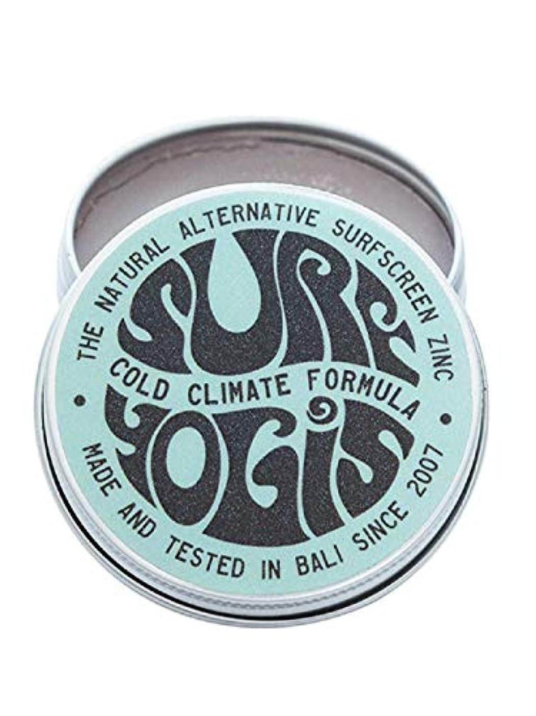 襲撃彼自身砂のSURF YOGIS(サーフヨギ) ナチュラルサーフスクリーン COLD CLIMATE FORMULA フォーミュラ 冬用 柔らかめ 日焼け止め オーガニック素材 60g SPF50 ノンケミカル