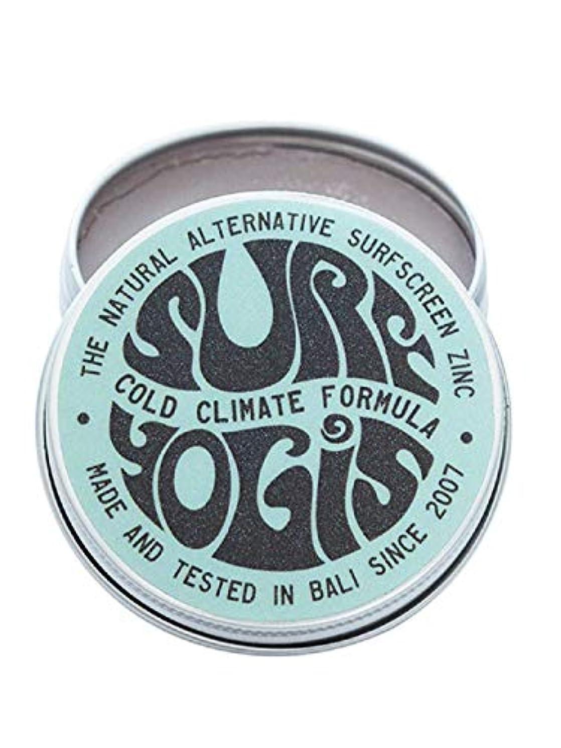 キャリアアルプス有害なSURF YOGIS(サーフヨギ) ナチュラルサーフスクリーン COLD CLIMATE FORMULA フォーミュラ 冬用 柔らかめ 日焼け止め オーガニック素材 60g SPF50 ノンケミカル