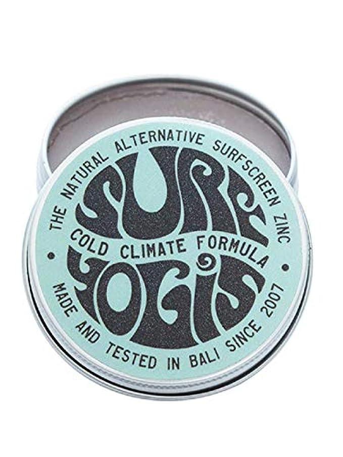スキップ上昇ちっちゃいSURF YOGIS(サーフヨギ) ナチュラルサーフスクリーン COLD CLIMATE FORMULA フォーミュラ 冬用 柔らかめ 日焼け止め オーガニック素材 60g SPF50 ノンケミカル