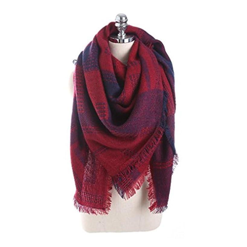 危機費やす放射能Dourabbi 女性 チェック柄 ステッチ ロング カシミヤ ウール ショール チェック柄 ネック スカーフ