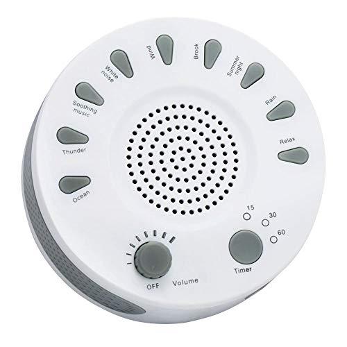 Neoperl-HK ホワイトノイズマシン 電池式&USB給電 無段階ボリューム 9つのサウンド タイマー機能 快眠グッズ