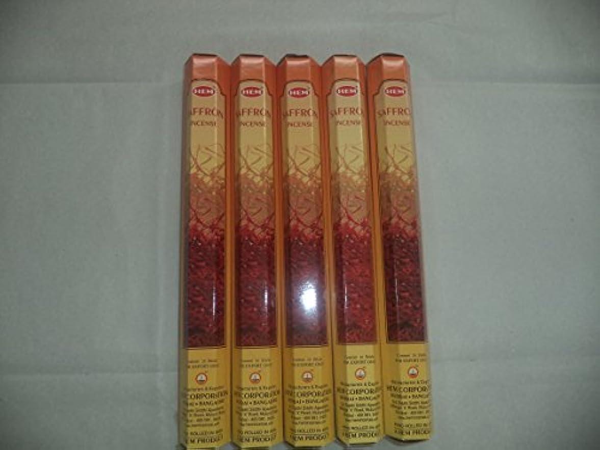 プーノ着実に乱すHemサフラン100 Incense Sticks ( 5 x 20スティックパック)