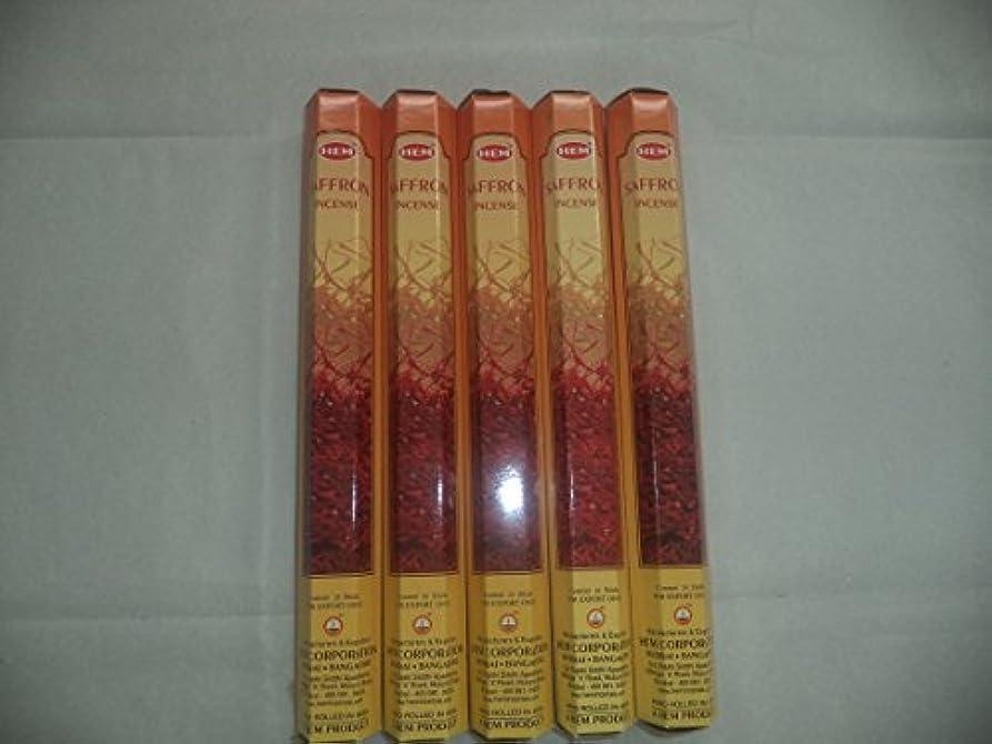 消毒剤ぜいたくクリスマスHemサフラン100 Incense Sticks ( 5 x 20スティックパック)