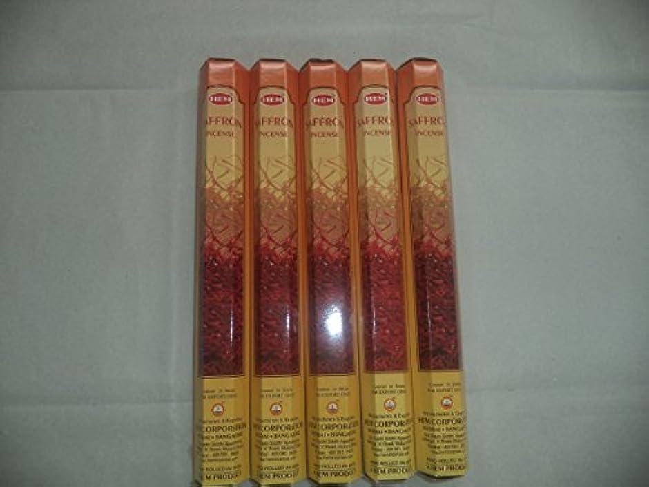 フルートピニオン衣服Hemサフラン100 Incense Sticks ( 5 x 20スティックパック)