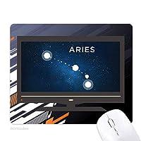 牡羊座の星座の十二宮のサイン ノンスリップラバーマウスパッドはコンピュータゲームのオフィス