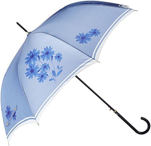 (ランバン オン ブルー)LANVIN en Bleu 婦人ジャンプ式長傘 【耐風傘】 軽量 フラワーシルエット 21-084-08680-00 71-60 サックスブルー 親骨の長さ 60cm
