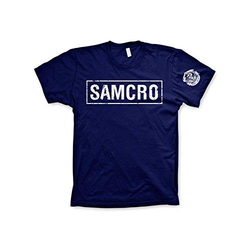 Officially Licensed Merchandise SAMCRO Distressed Mens T-Shirt (Navy), Medium