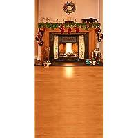 GladsBuyレトロストーブ10' x 20'コンピュータ印刷写真バックドロップクリスマステーマ背景st-143