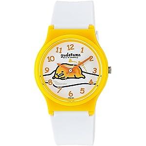 [シチズン キューアンドキュー]CITIZEN Q&Q 腕時計 ぐでたま アナログ ウレタンベルト ホワイト HT01-002 ガールズ