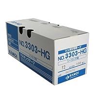 カモ井 マスキングテープ No.3303-HG シーリング用 12mm×18m 100巻入 [養生テープ]