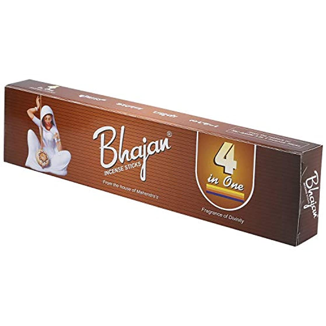 倍増マンハッタン服を洗うMahendra's Bhajan 100 (4in1) Incense Sticks - 4 Box Combo with Free Perfume Bag