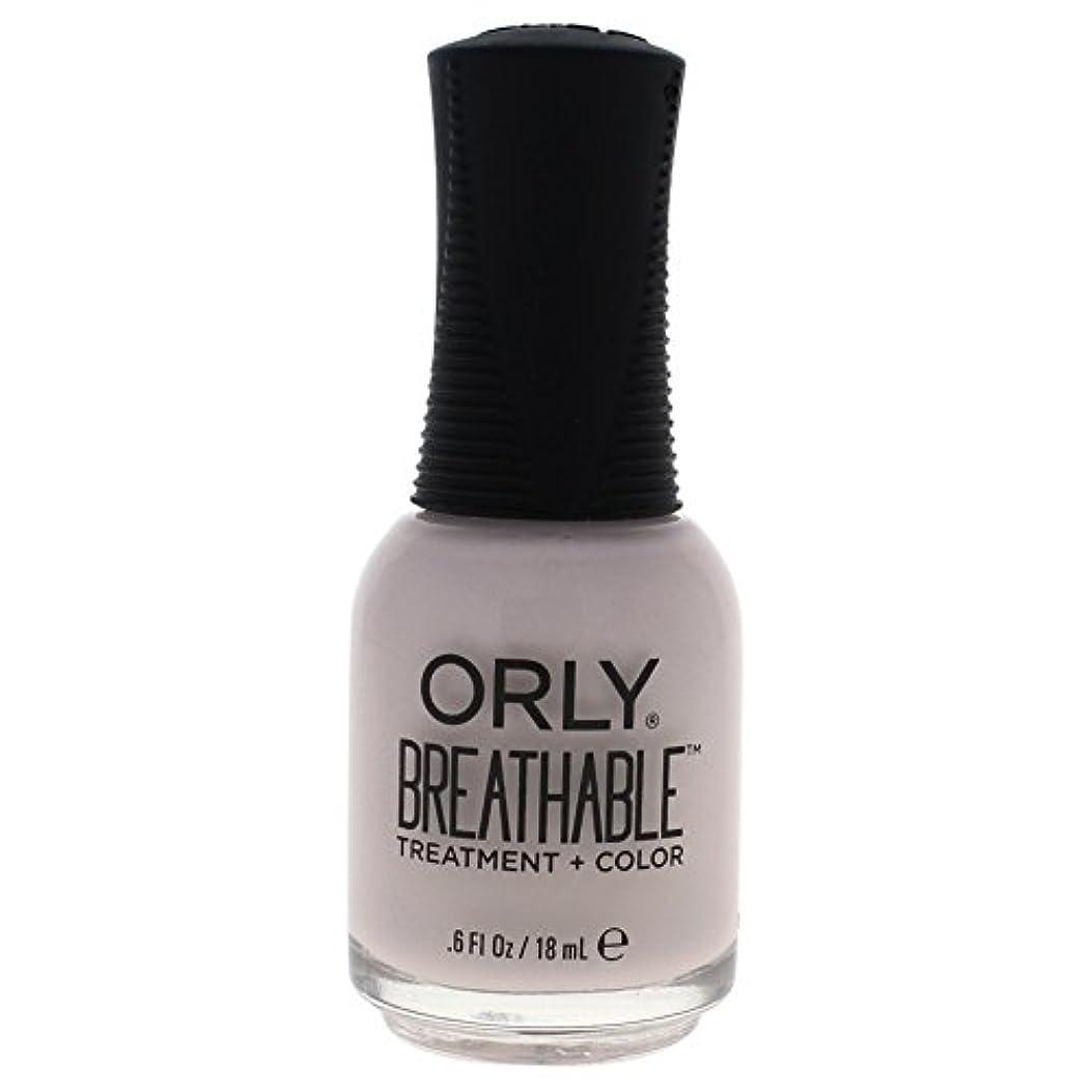 優遇マウスピースラベルOrly Breathable Treatment + Color Nail Lacquer - Light as a Feather - 0.6oz / 18ml