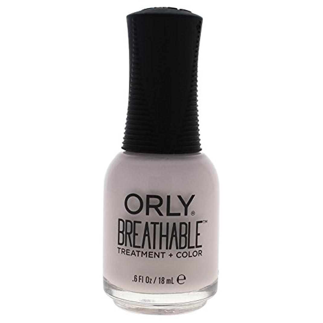 不透明な権利を与える祖母Orly Breathable Treatment + Color Nail Lacquer - Light as a Feather - 0.6oz / 18ml