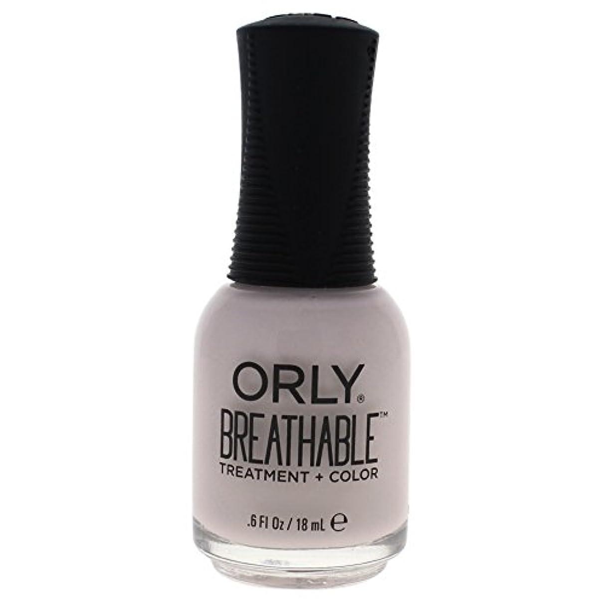 ミス殺します助けてOrly Breathable Treatment + Color Nail Lacquer - Light as a Feather - 0.6oz / 18ml