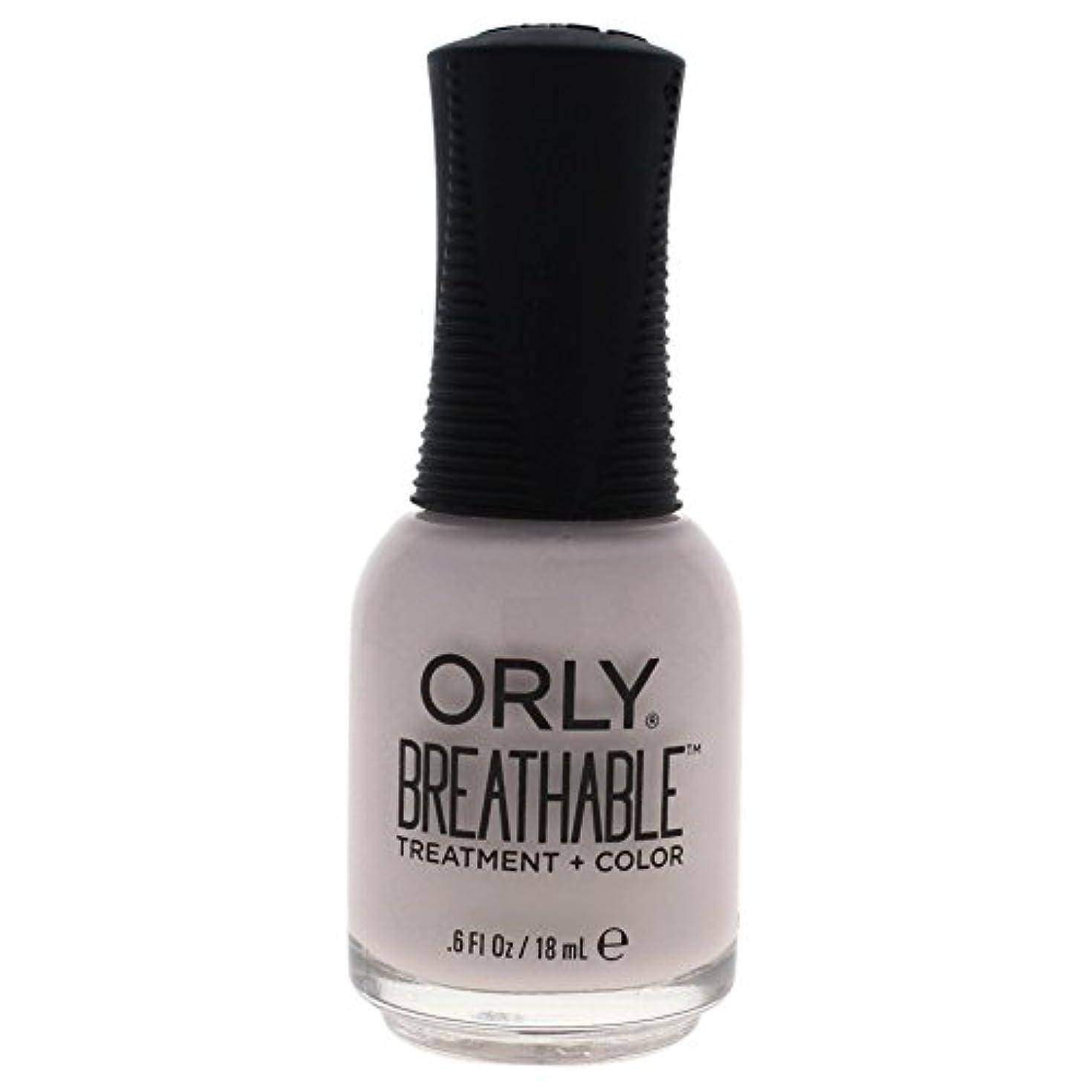 写真暴力的なめ言葉Orly Breathable Treatment + Color Nail Lacquer - Light as a Feather - 0.6oz / 18ml