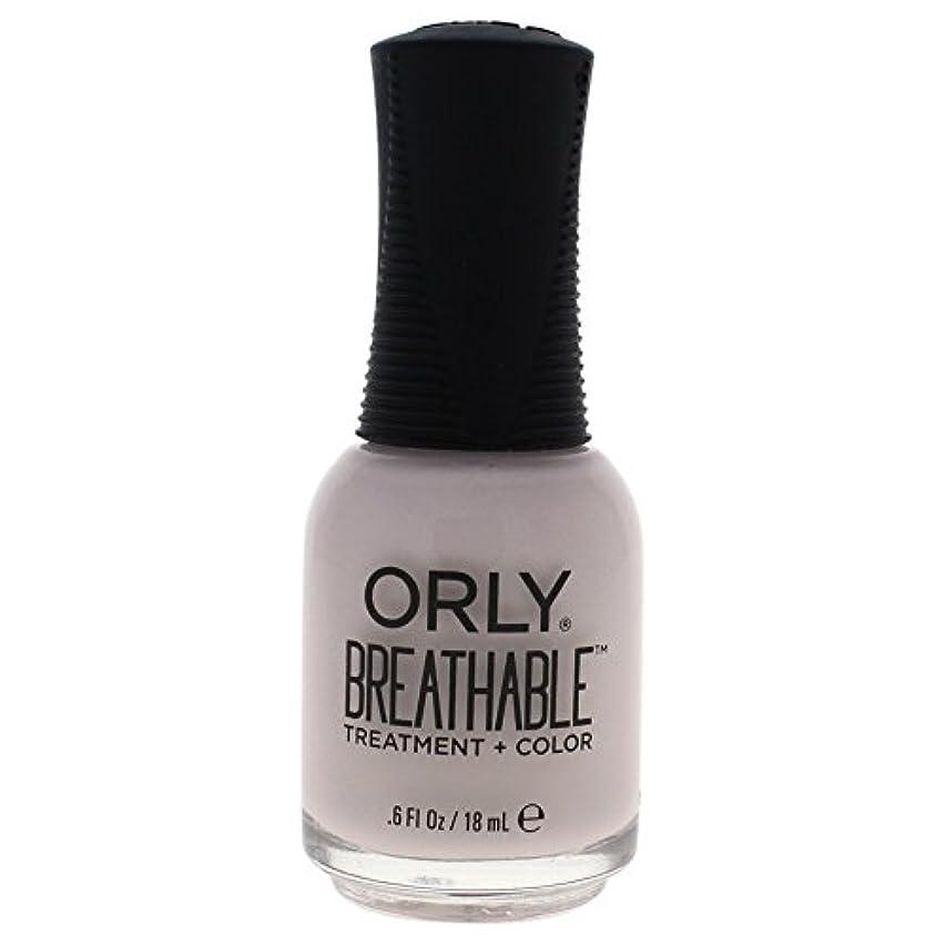 あざ透けて見える熟読するOrly Breathable Treatment + Color Nail Lacquer - Light as a Feather - 0.6oz / 18ml