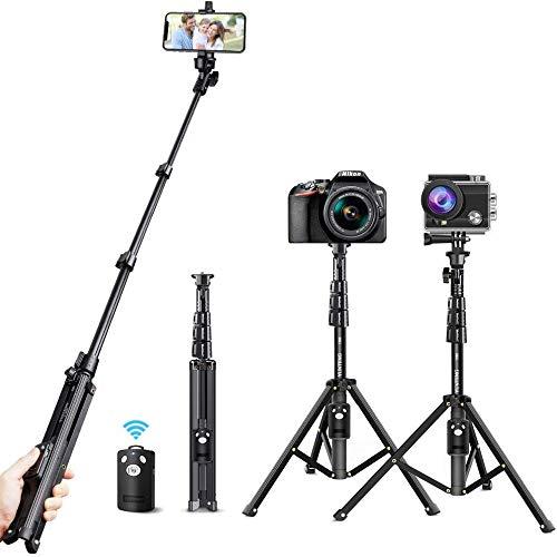 Tecboss 自撮り棒 三脚 Bluetooth セルカ棒 無線 三脚/一脚兼用 360度回転 7段伸縮 折りたたみ iPhone IOS&Androidスマホ/一眼レフカメラ/goproに対応 軽量