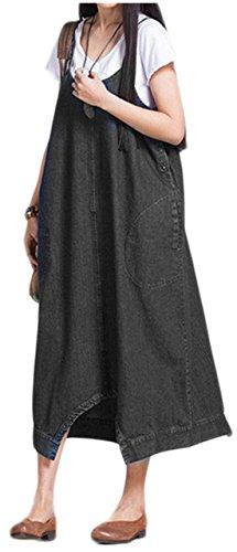 [フローライズ] サロペットスカート デニム カジュアル 3...
