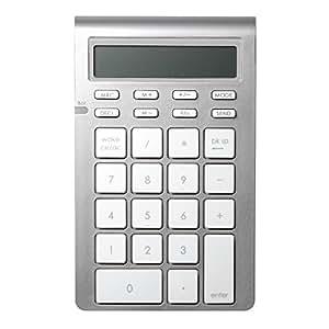 Satechi アルミニウム ワイヤレス テンキー SENDキー 電卓モード付 26キー (OSXやWindowsでのExcel, Numbersでのデータ入力用)