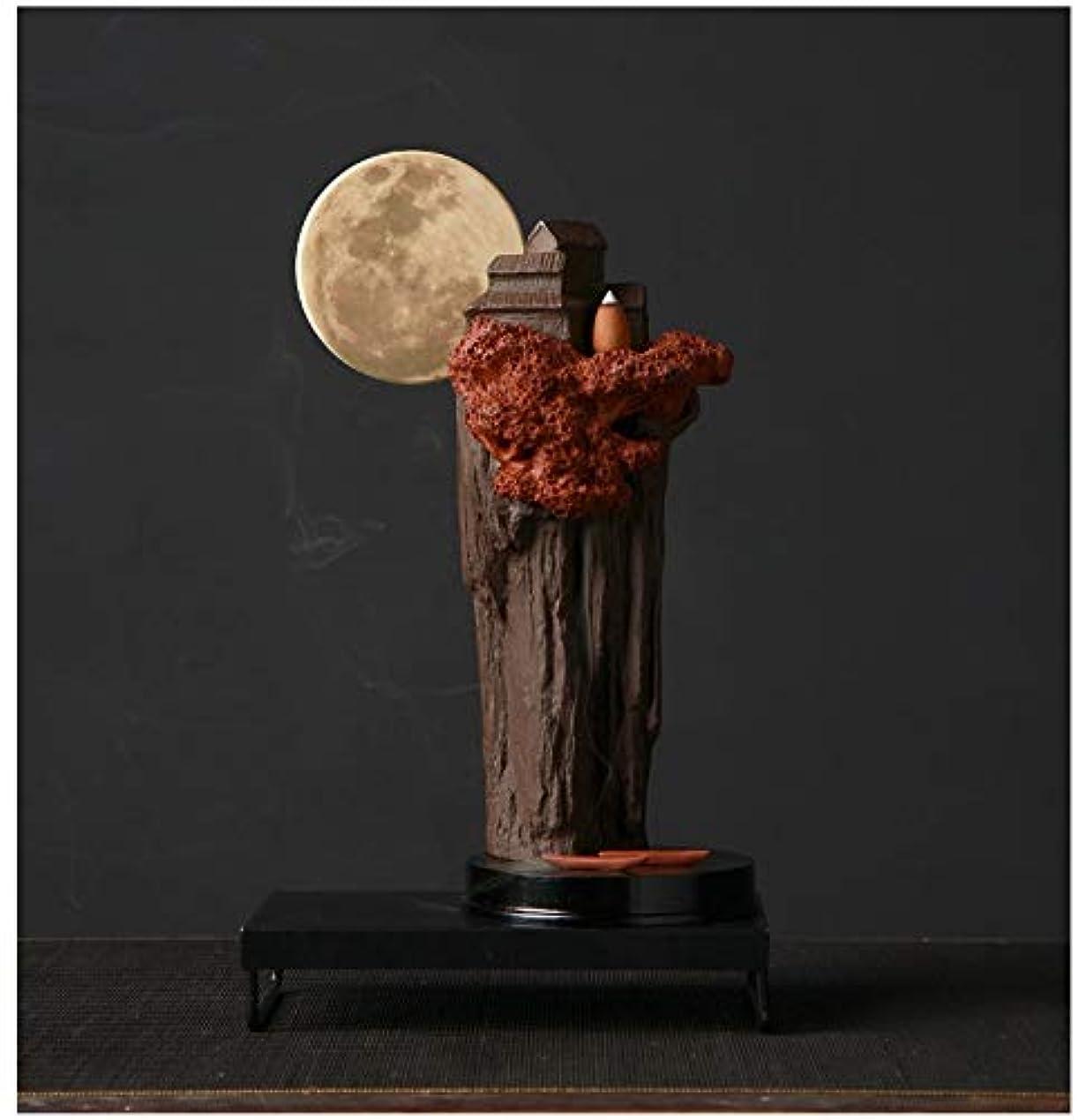 小さい居間仕方PHILOGOD 陶器香炉 アルパインスタイリング樹脂逆流香炉 お香 ホルダー 香立て ホームデコレーション 香皿