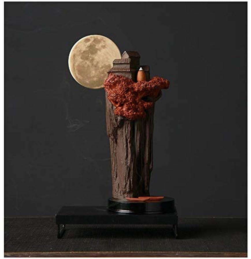 荒野ケント実行可能PHILOGOD 陶器香炉 アルパインスタイリング樹脂逆流香炉 お香 ホルダー 香立て ホームデコレーション 香皿