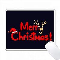 楽しいクリスマスレターとトナカイアートオリジナル PC Mouse Pad パソコン マウスパッド