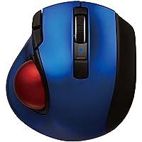 Digio2 Q 小型 トラックボール Bluetoothマウス 静音 5ボタン ブルー 48373