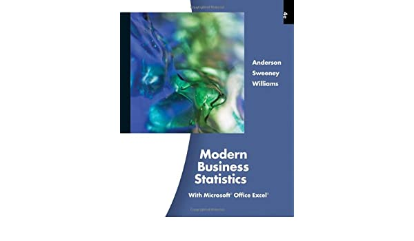 amazon modern business statistics with microsoft office excel