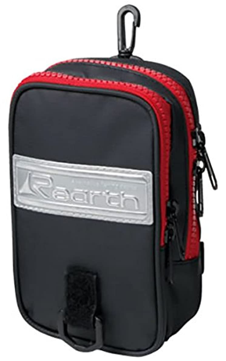 味わう意図的征服リアス(REARTH) リアスチェストポーチ ブラック/レッド. FAC-1060-F-BLk/RED