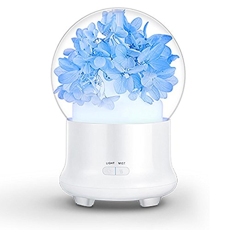 QFFL jiashiqi USB加湿器/夜間照明/タイミング/超音波/アロマセラピーマシン/フォグボリューム調節可能加湿器(4色使用可能)(120 * 120 * 168mm) (色 : ライトブルー)